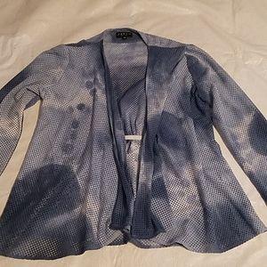 J'Envie New York Blue Bathing Suit Coverup  Sz MD